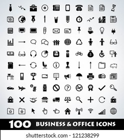 Mega business icon set