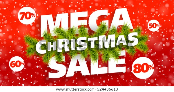 18f8eca6c5 Mega Christmas Sale Banner Stock Vector (Royalty Free) 524436613
