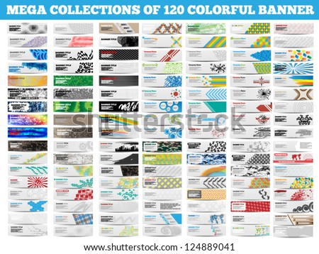 ab7df616b7 MEGA COLLECTION 120 COLORFUL BANNER Stock Vector (Royalty Free ...