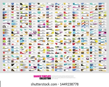 Mega collection of 300 abtract banners.modern template design for web