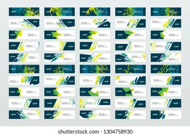 Mega collection of 50 abtract banners.modern template design for web