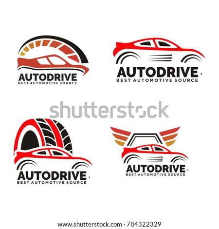 Mega Collection Badges Vintage Car Logo Stock Vector Royalty Free