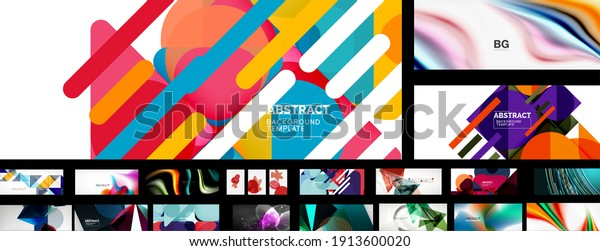 Mega collection of vector abstract backgrounds