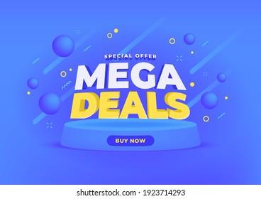 Mega deals sale banner background.