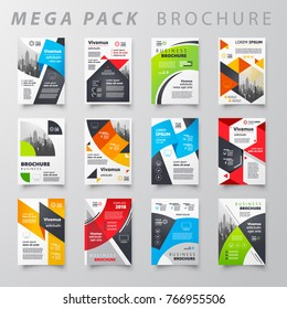 Mega pack Brochure design template flyer set