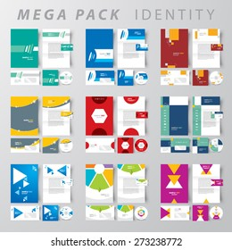 Mega pack Corporate identity design template set