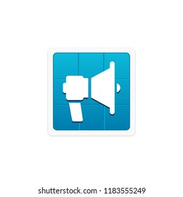 Mega Phone App Icon Stock Vector (Royalty Free) 1138742936