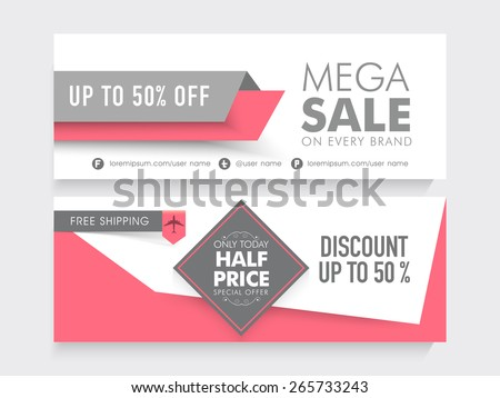 Mega Sale 50 Discount Free Shipping Stock Vector (Royalty Free ... 9a26e78fc
