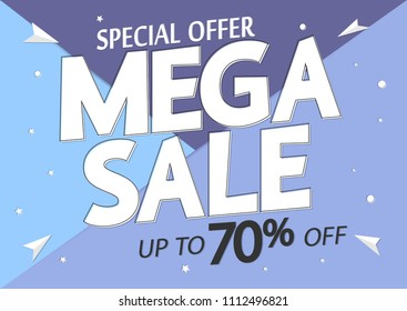 mega sale 70 off poster design stock vector royalty free