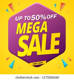 mega sale banner design