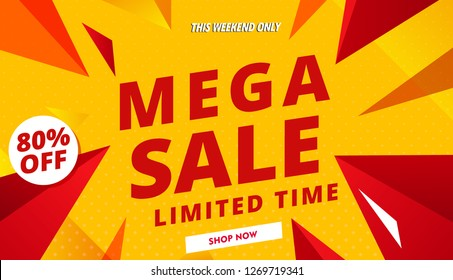 mega sale banner red