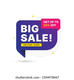 Mega sale deal banner template design, Big sale special offer. end of season special offer banner. abstract promotion graphic element. vector illustration.