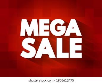 Mega Sale text quote, business concept background