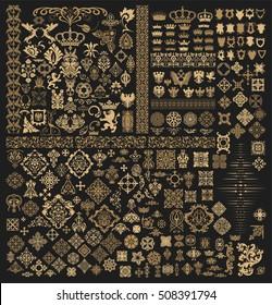 Mega set of baroque elements