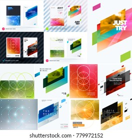 Mega set of design of business vector template