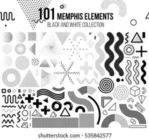 Mega set of memphis design elements