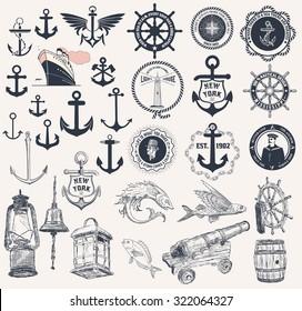 Mega Set of nautical elements
