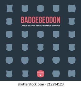Mega set of vintage vector badge shapes, collection of design elements for creating retro logos (volume 2)