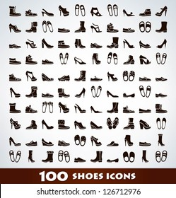 Mega shoes icon set