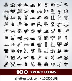 Mega sport icon set