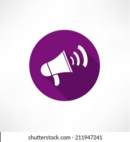 megaphone, flat icon