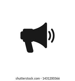 Megaphone Flat Icon Logo Vector