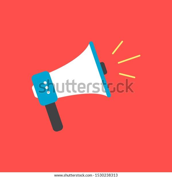 megaphone flat icon loudspeaker vector design stock vector royalty free 1530238313 shutterstock