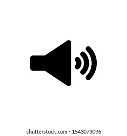 megaphone glyph icon black and white