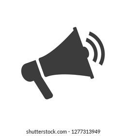 Megaphone icon on white background. Vector Illustration