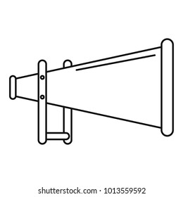 Megaphone icon. Outline illustration of megaphone vector icon for web