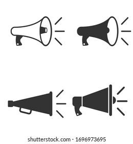 Megaphone icon set,loudspeaker icon. shout symbol. vector Illustration