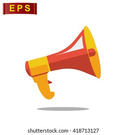 megaphone icon, vector announcement, isolated megafone sign