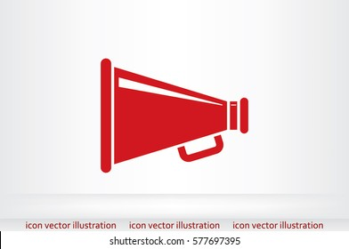 Megaphone icon, vector illustration.
