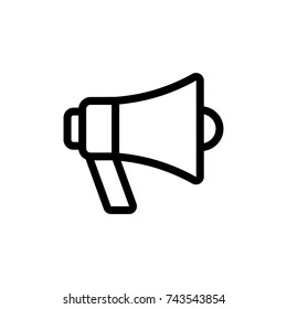 Megaphone icon, Megaphone icon vector, in trendy flat style isolated on white background. Megaphone icon image, Megaphone icon illustration