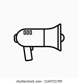 Megaphone icon. Web. Vector illustration. EPS 10.