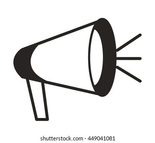 megaphone isolated icon design, vector illustration  graphic