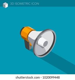 megaphone isometric icon