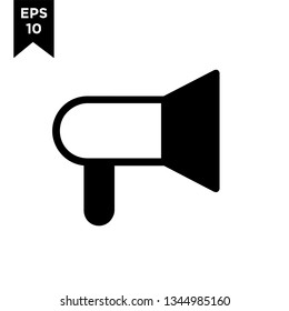 megaphone line outline with black filled new icon designs logo vector illustration template
