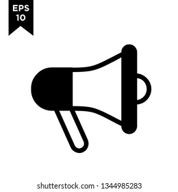 megaphone line outline with black filled new icon designs logo vector illustration template