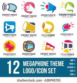 megaphone logo/icon bundle