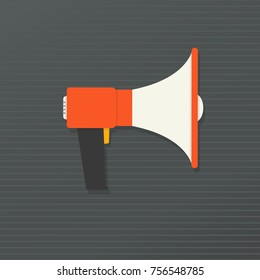 Megaphone, loudspeaker flat icon color.  Megaphone sign, symbol, logo icon. Megafon icon, image, jpeg. Vector illustration. EPS 10.