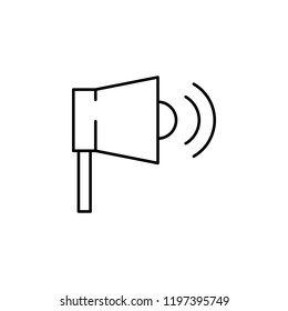 megaphone, loudspeaker icon. Element of business start up icon for mobile concept and web apps. Thin line megaphone, loudspeaker icon can be used for web and mobile