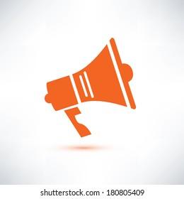 megaphone, loudspeaker isolated symbol