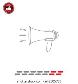 Megaphone, loudspeaker line icon. Loud-hailer