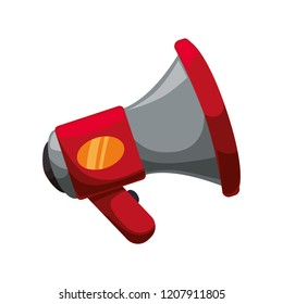 megaphone sound isolated icon