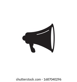 Megaphone speaker icon logo design vector template