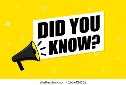 Megaphone and text - Did you know?