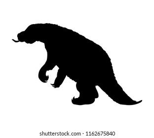 Megatherium silhouette extinct prehistoric mammal animal
