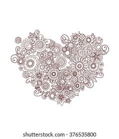 Mehndi heart shape