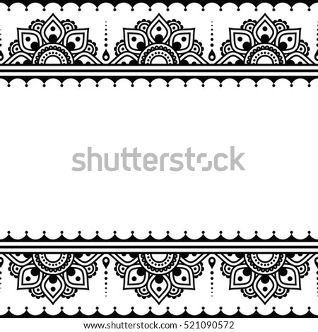 Mehndi Indian Henna Tattoo Design Greetings Stock Vector Royalty